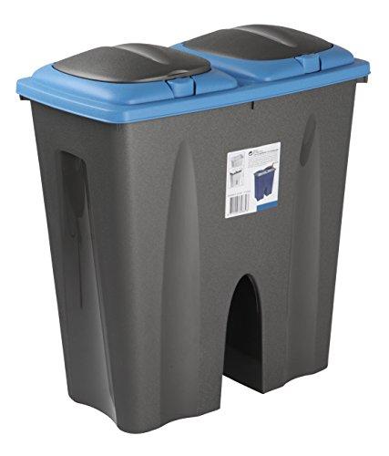 double-recycling-waste-duo-bin-plastic-rubbish-disposal-cardboard-2-x-25-litre