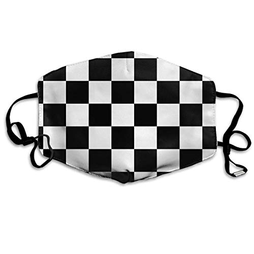 itruty Racing Checkered Flag Unisex Anti-Dust Mouth Mask Face Mask,Anti Bacterial Washable,Reusable Maske Warm Windproof Mask Fashion Outdoor Mund Maske with Design