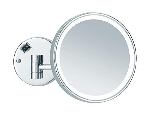 Nicol 4026300 Mayla Wandspiegel mit Direktanschluss, Kosmetikspiegel 5-fache Vergrößerung und...