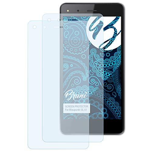 Bruni Schutzfolie für Blaupunkt SL 01 Folie, glasklare Bildschirmschutzfolie (2X)