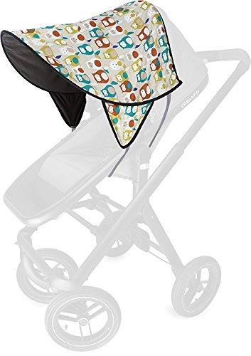 Priebes OHG Kinderwagen Sonnendach Priebes Sonnendach Daisy für das Verdeck mit UV-Schutz 50+ Universal Sonnenschutz, Sonnensegel für Kinderwagen Buggy, Design:Eulen taupe