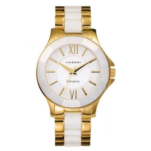 Reloj Viceroy Ceramica Y Zafiro 40754-03 Mujer Blanco