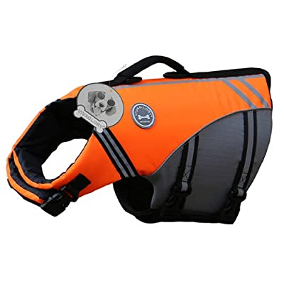 Vivaglory New Sports Style Ripstop Dog Life Jacket with Superior Buoyancy & Rescue Handle by Vivaglory