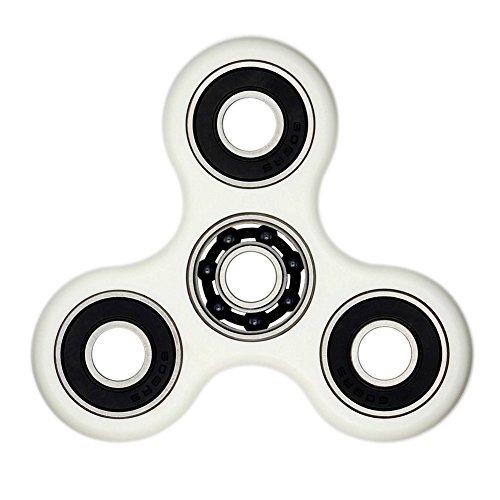 Ifuneys tri-spinner Fidget Toy Edc ADHD Focus ultra durevole ad alta velocità SI3N4ibrido cuscinetto in ceramica 1-2min Spins non-3d stampato, White