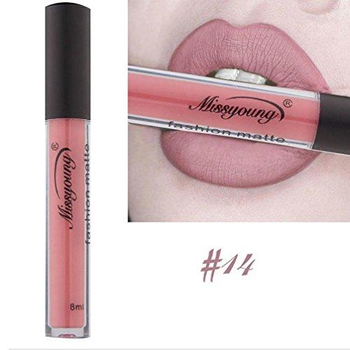 Revlon Make-up Entferner (Lippenstifte Matt SOMESUN Damen Flüssige Lippenstift Feuchtigkeitscreme Samt Lippenstift, Langlebig, Kiss Proof, wasserdicht (#14))