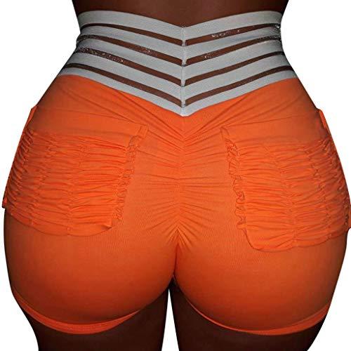 Luckycat Shorts Damen Kurze Hosen Schlafhose Kurz Sporthose Baumwolle Schlafanzughose Yoga Running Gym Beiläufige Elastische Sport Hosen Damen Hot Pants Sommer Shorts Hohe Taille Kurze Hosen