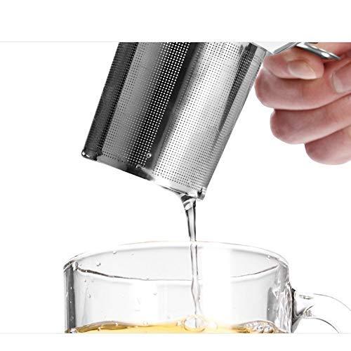 Golgyqin Praktischer Teesieb-Filter Edelstahl-Tee-Infuser-Sieb-Filter Drinkware Tee-Trinkzubehör Küchengebrauch
