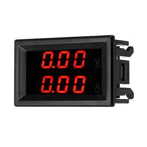ROUHO Dc 100V 10A Mini Digital Voltmeter Ammeter Voltage Current Meter Tester Mit Blauem/Red Dual Led-Display-Rot
