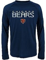 "Chicago Bears Youth Jeunes NFL ""Involution"" Performance Long Sleeve T-Shirt Chemise"