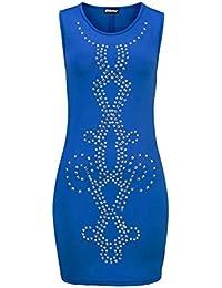 Chillytime Damen Kleid mit Nieten, blau