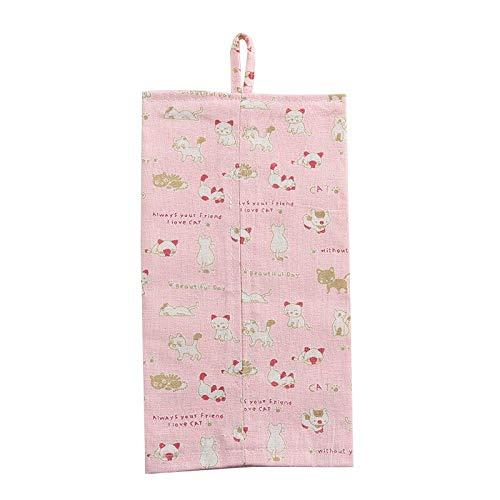 Box Napkin - 1 Pc 30 16.5 Cm Cotton Linen Tissue Box Hanging Type Napkin Case Floral Leaf Cat Printed Living Room - Pantry Bulk Office Mini Travel Flat Rectangular Decorative Trash Square Tissue Flat-panel-card