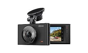 Anker Roav DashCam C2, FHD 1080P, Auto Kamera mit 3 Zoll LCD, Vier Spuren Weitwinkel, G-Sensor, WDR, Schleifenaufnahme und Nacht Modus, inkl. Anker 2 Port Kfz Ladegerät