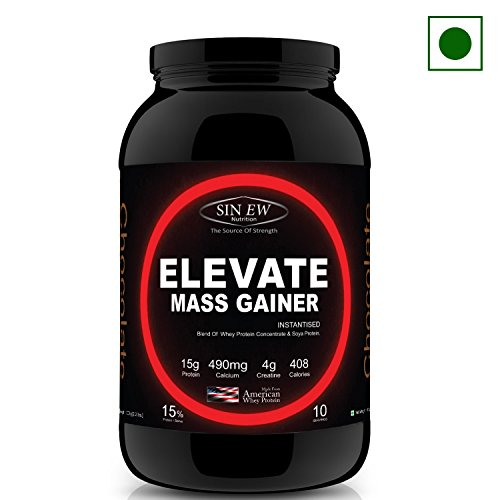 Sinew Nutrition Elevate Mass Gainer - 1 kg /2.2 lbs (Chocolate Flavor)