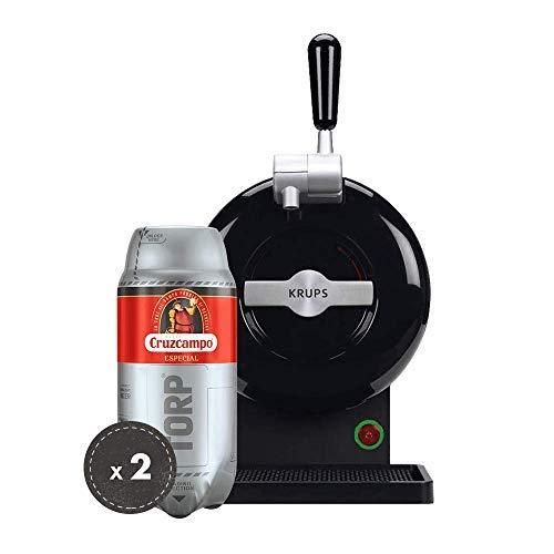Heineken Pack THE SUB | Barrel beer handle THE SUB Black Edition + 2 TORP Cruzcampo Special barrel of beer of 2 liters