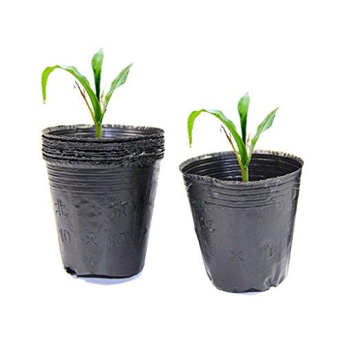 Lunji 10 Pcs Sacs à Plantes Biodégradable, Sacs Jardinière à Plantes pour Jardin Maison (10x10cm)