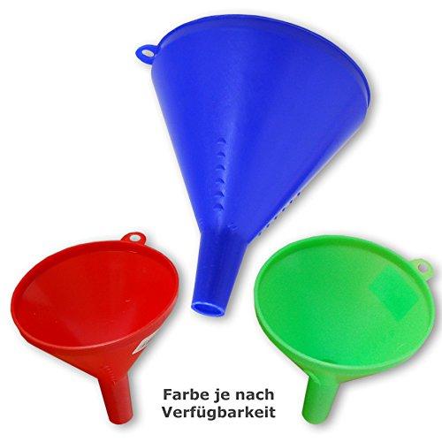 Kanister Set Bunt Küche (3 tlg Trichtersatz 3 Trichter Kunststoff Trichterset / BUNT)