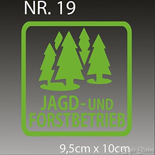 Jagd und Forstbetrieb Sticker Förster Aufkleber Jäger Weihnachtsgeschenk Geschenkidee für Jäger