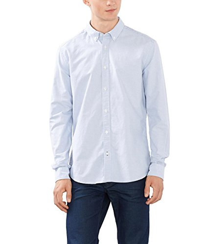 ESPRIT Oxford, Camicia Uomo, Blu (LIGHT BLUE), Small