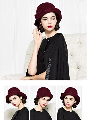 Automne Et Hiver Chapeau Chapeau Chapeau Bowknot Mode élégant Vent ( couleur : # 3 ) # 3