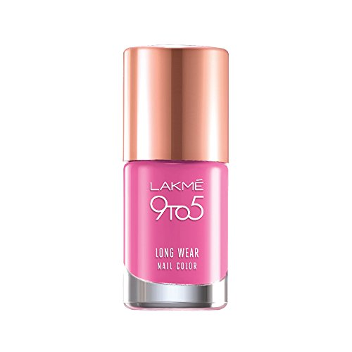 Lakme 9 to 5 Long Wear Nail Color, Pink Case, 9ml