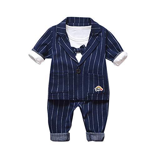 Smoking für Jungen Kleidung Body Kleidung Gentleman Baby Junge Anzüge 3 Stück Set Langarm Shirt + Sakko + Hose ✨LANSKIRT ()