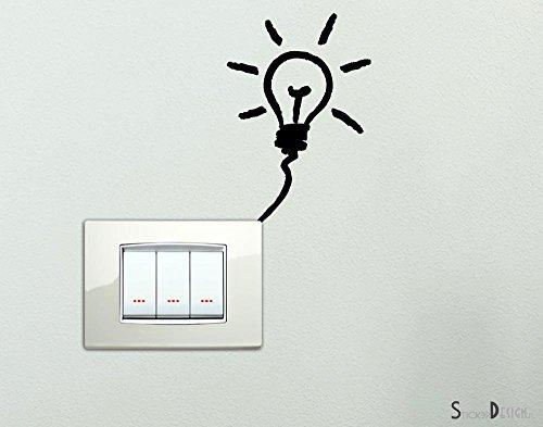 Adesivo lampadina per interruttore spine placche decorativo Wall Stickers Adesivi Murali Decorazione interni
