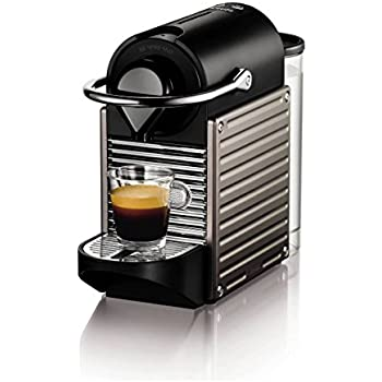 nespresso xn300540 pixie coffee machine titanium by krups. Black Bedroom Furniture Sets. Home Design Ideas