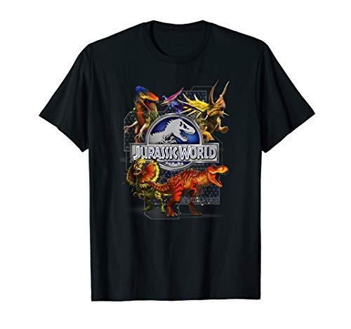 Jurassic World Dinosaur and Hybrid Collage T-Shirt -