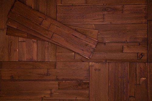 Wandpaneele selbstklebend aus Echtholz von Mywoodwall - Schöne Wandverkleidung - Java (braun), 100% FSC-zertifiziert und Umweltfreundlich, 1 Paket a 1,725m²