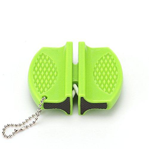 OurLeeme Mini Tragbar Multifunktions-Messerschärfer Keramik Rod Wolfram Stahl Camp Küche Messerschärfer Werkzeug
