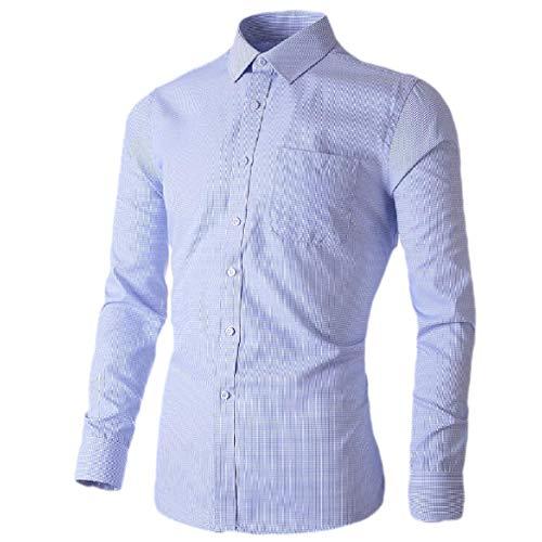 CuteRose Mens Pure Colour Long Sleeve Button Down Business Classic Western Shirt 5 4XL (Western Shirt 4x)