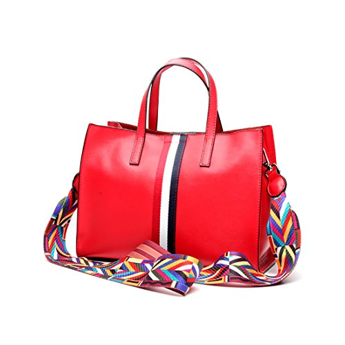 Plover Donna Pelle di mucca borsetta Totalizzatore Borse a tracolla Borsa Crossbody Fashion style Red