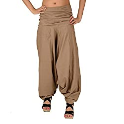 Skirts & Scarves Womens Cotton Casual Harem/Yoga Pants/Pajama (Beige)