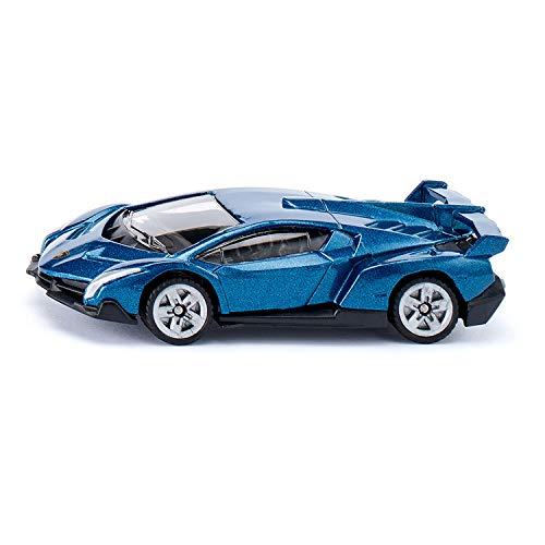 Siku 1485 - Lamborghini Veneno, Metall/Kunststoff, Spielzeugauto für Kinder, dunkelblau, Bereifung aus Gummi