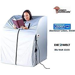 newgen medicals Mini Infrarotkabine: Tragbare Infrarot-Sauna V2 mit 2 Heizern, 1600 Watt (Infrarot Saunen)