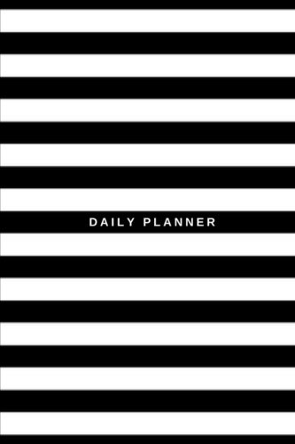 Daily Planner: (6x9) To Do List, Black and White Stripes, 90 Pages, Smooth Glossy Cover