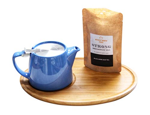 FORLIFE Teekanne, 510g, Bambus Tablett & English Breakfast Tee 100Gramm