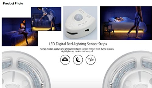 Haushaltsartikel LED Streifen Bett-Licht Nacht-Licht Bewegungssensor Dimmbar Dimmer Timer 2x120 cm Bewegungsmelder Bettbeleuchtung Weiß STK (Timer Dimmer)