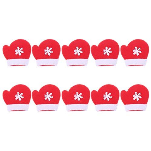 Amosfun 10pcs parche costura navidad guante navidad