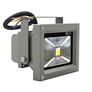 Faretti lampade LED da esterno 10W,5,bianco e staffa