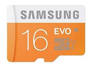 Samsung Carte Mémoire EVO Micro SD Classe 10 MB-MP16D/EU 16 Go Sans adaptateur SD