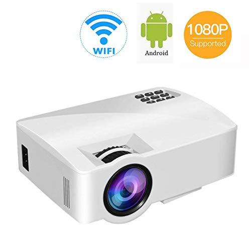 DBSCD Mini-Projektor, Videoprojektor mit 1080p Full HD und 150-Zoll-Heimkino-Display für die unterschiedlichsten Anforderungen, kompatibel mit HDMI/TV-Stick/V