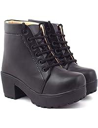 BEONZA Women High Neck Boots