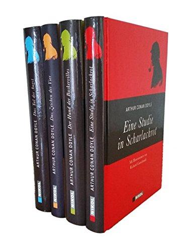 Sherlock Holmes (vier Romane) - Eine Studie in Scharlachrot - Der Hund der Baskervilles - Das Zeichen der Vier - Das Tal der Angst