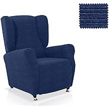 Funda sillón Orejero Moraig Tamaño 1 plaza (Estándar), Color Azul (varios colores disponibles)