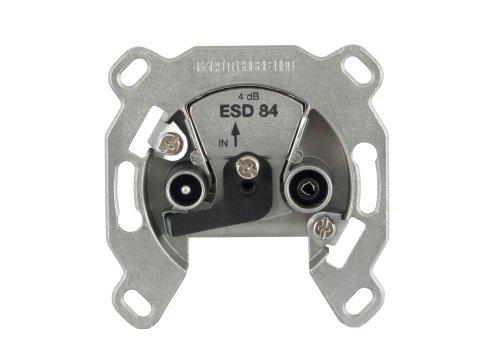 Preisvergleich Produktbild Kathrein ESD 84 Antennen-Steckdose 2-fach (TV, Radio, Breitband Einzelanschlussdose)