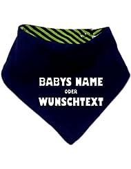mitwachsendes Baby - und Kinder Wende - Halstuch mit Ihrem Wunschdruck / in 7 Designs / Größen 0-36 Monate