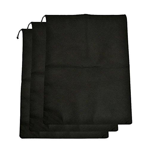 ZUMUii Butterme 6 Stück Wasserdichte Nylon Reiseschuhtaschen Schuhbeutel mit Zugband, 12 x 15, schwarz