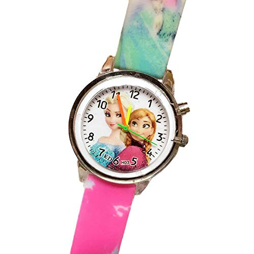 eruhren Elektronische Bunte Lichtquelle Kinderuhr Mädchen Geburtstagsfeier Kinder Geschenk Uhr Kinderarmband, Flash Rose ()