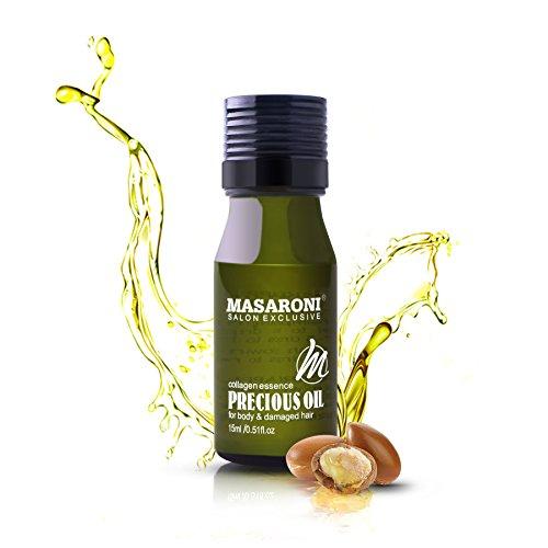 masaroni aceites esenciales aceite de argán marroquí Tratamiento Crema Hidratante de pelo diario de piel cuerpo uñas 15 ml/0.51fl. oz